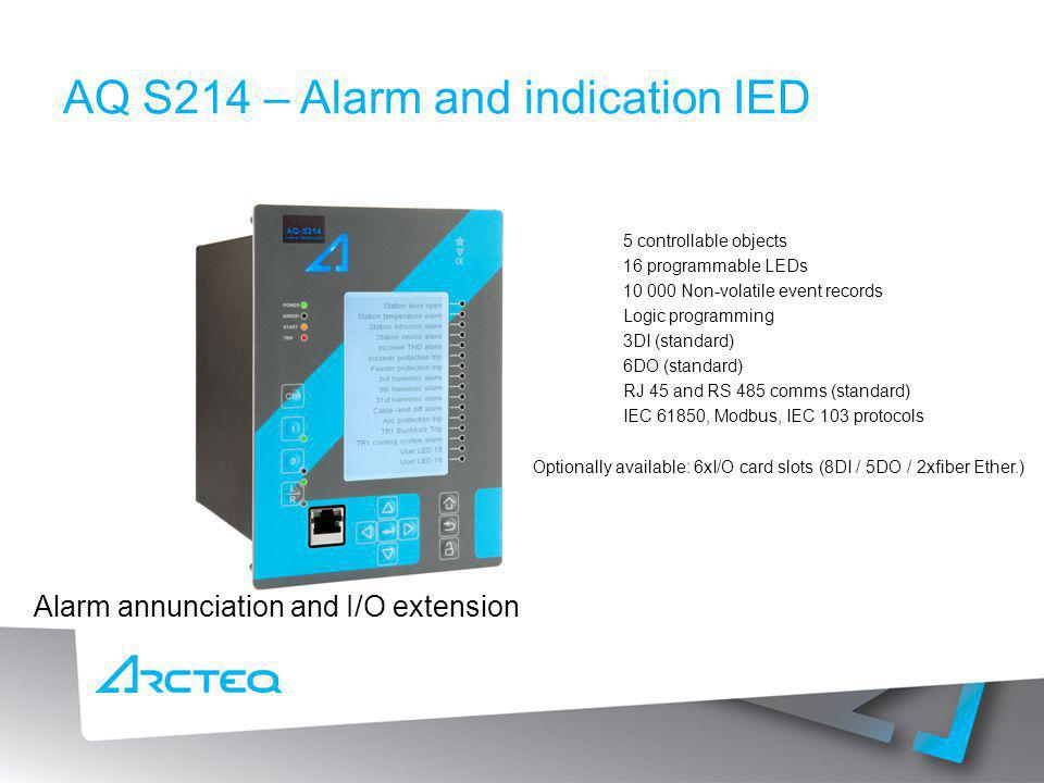 AQ S214 – Alarm and indication IED