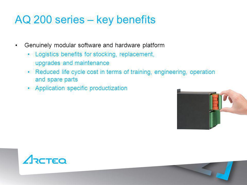 AQ 200 series – key benefits