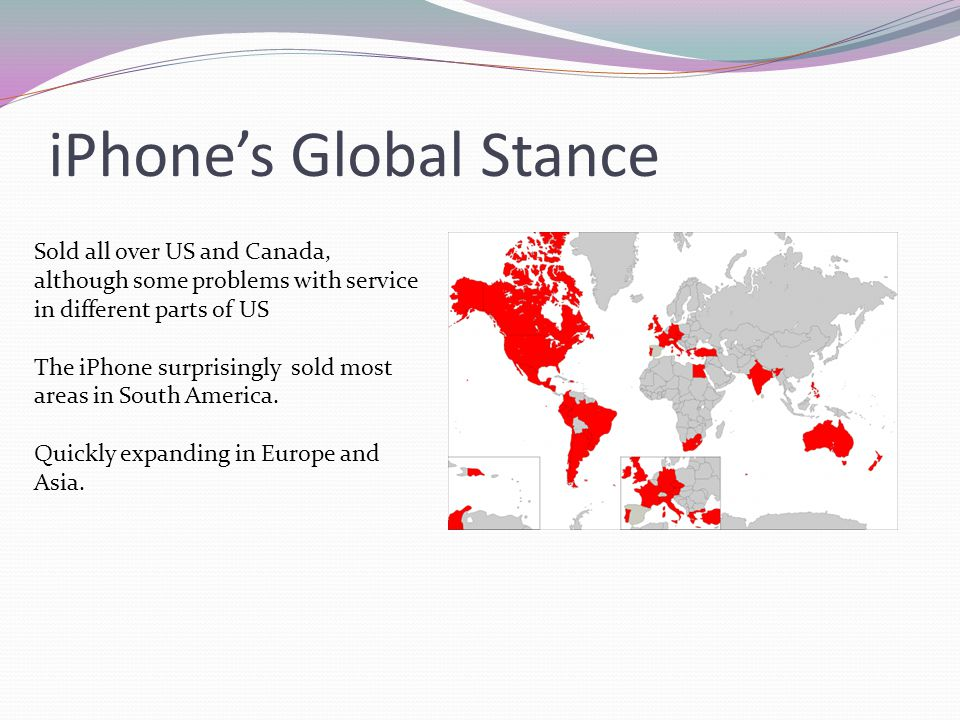 iPhone's Global Stance