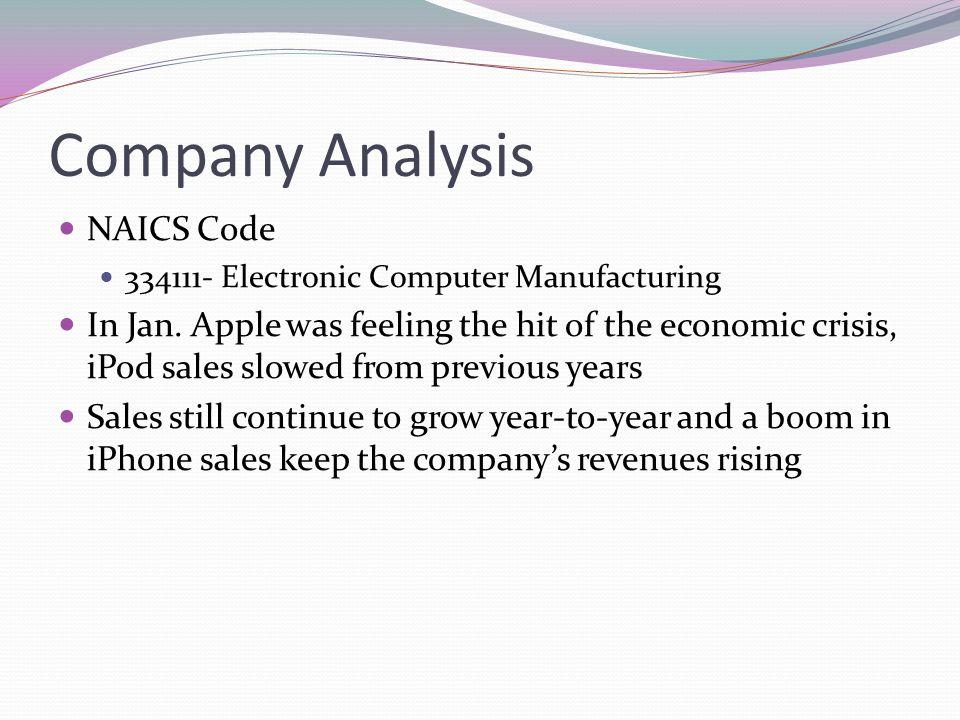 Company Analysis NAICS Code