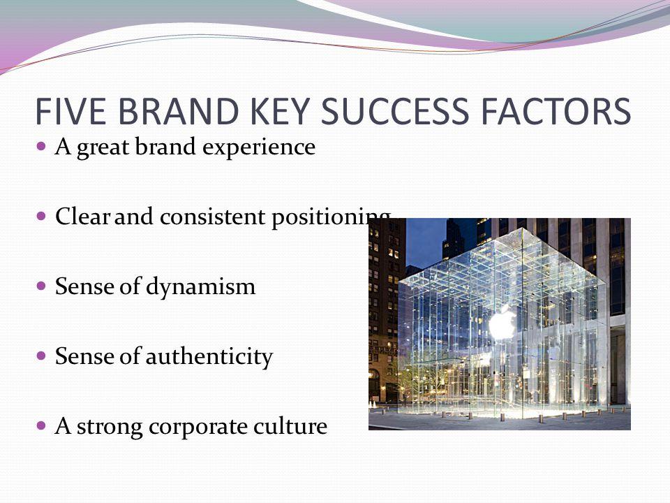 FIVE BRAND KEY SUCCESS FACTORS