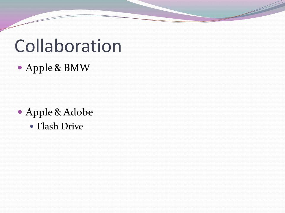 Collaboration Apple & BMW Apple & Adobe Flash Drive