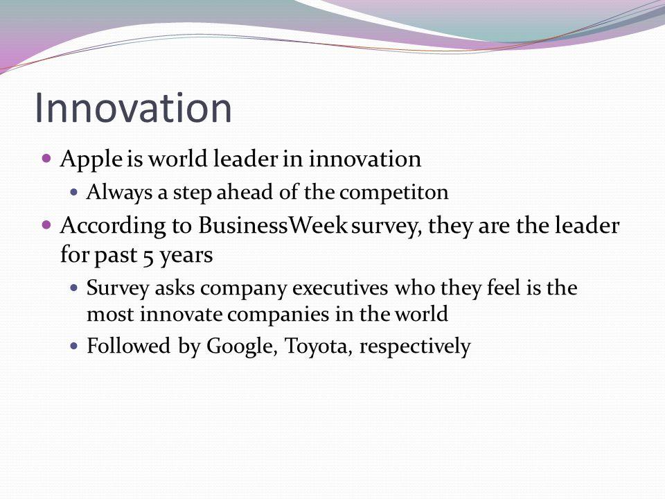 Innovation Apple is world leader in innovation