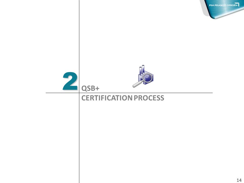 2 QSB+ CERTIFICATION PROCESS 14