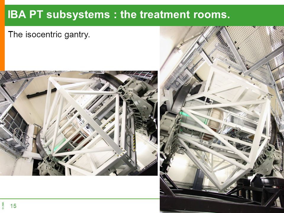 IBA PT subsystems : the treatment rooms.