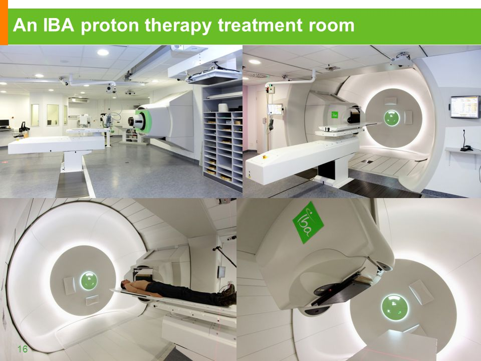 An IBA proton therapy treatment room