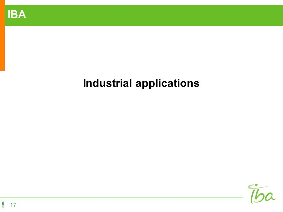 Industrial applications