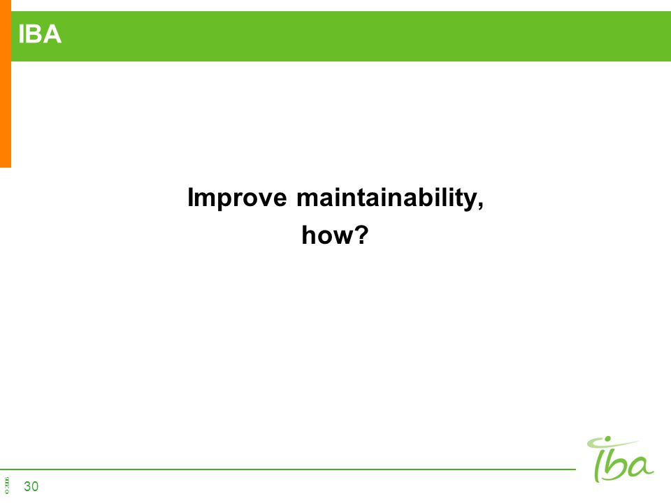 Improve maintainability,