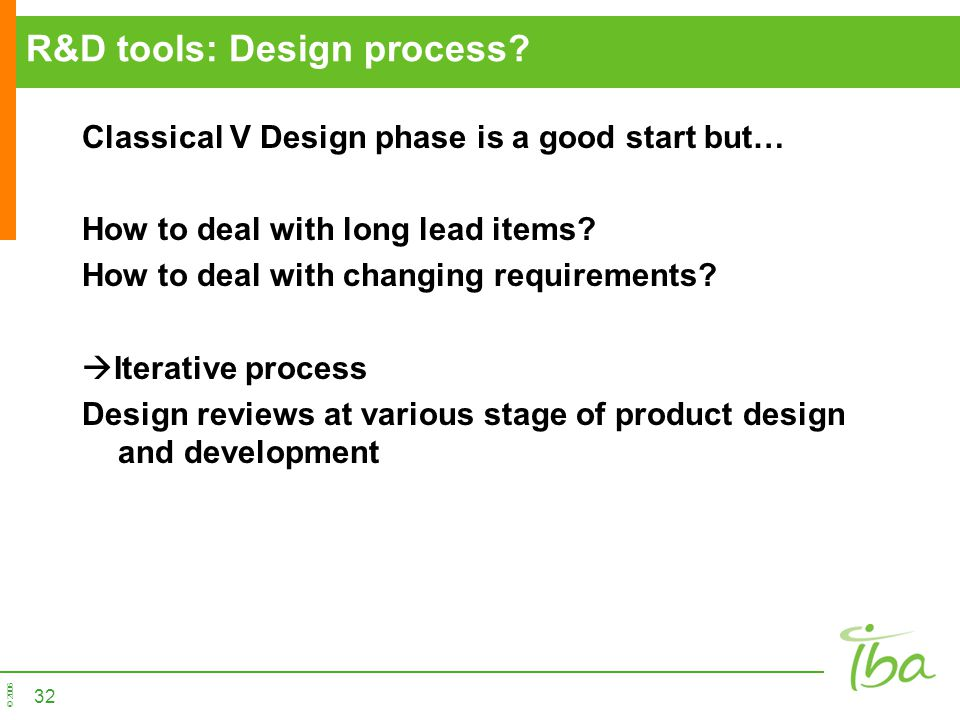 R&D tools: Design process