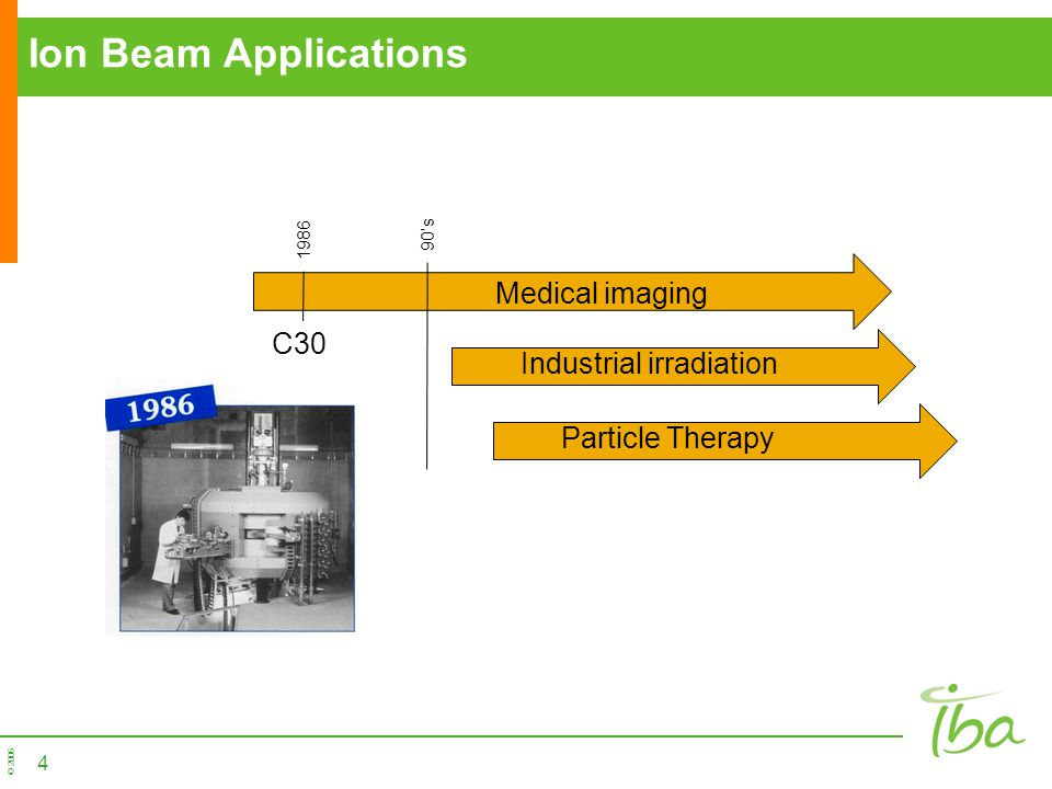 Ion Beam Applications Medical imaging C30 Industrial irradiation