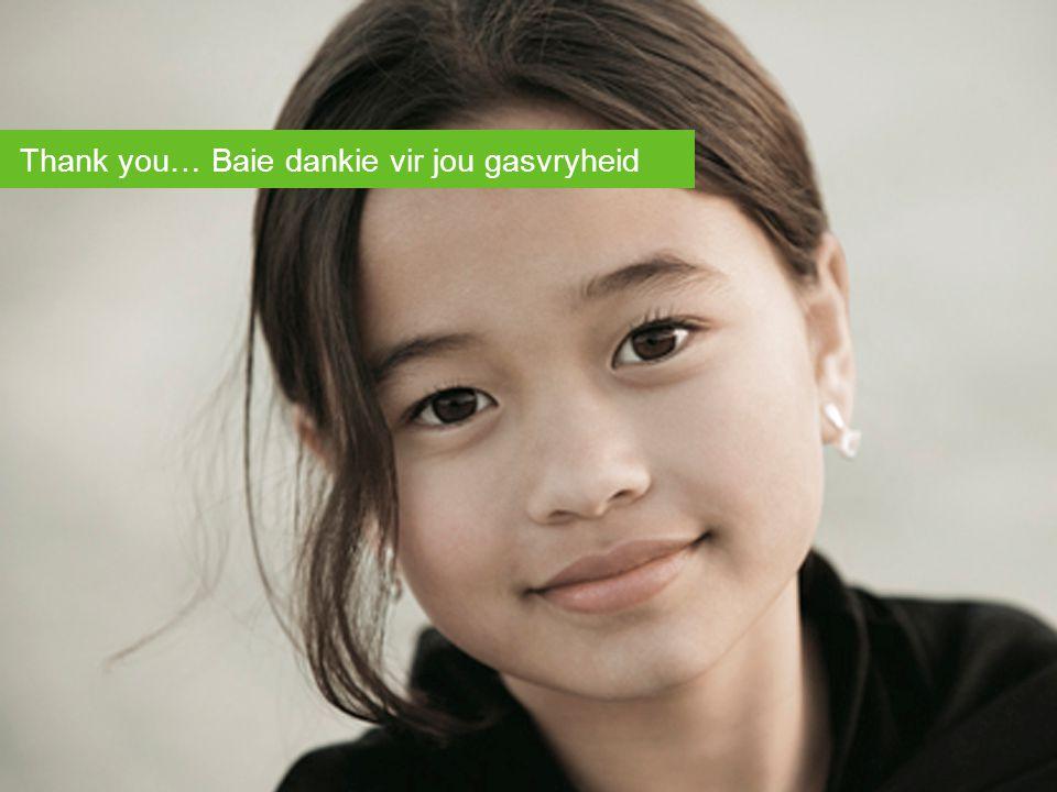Thank you… Baie dankie vir jou gasvryheid