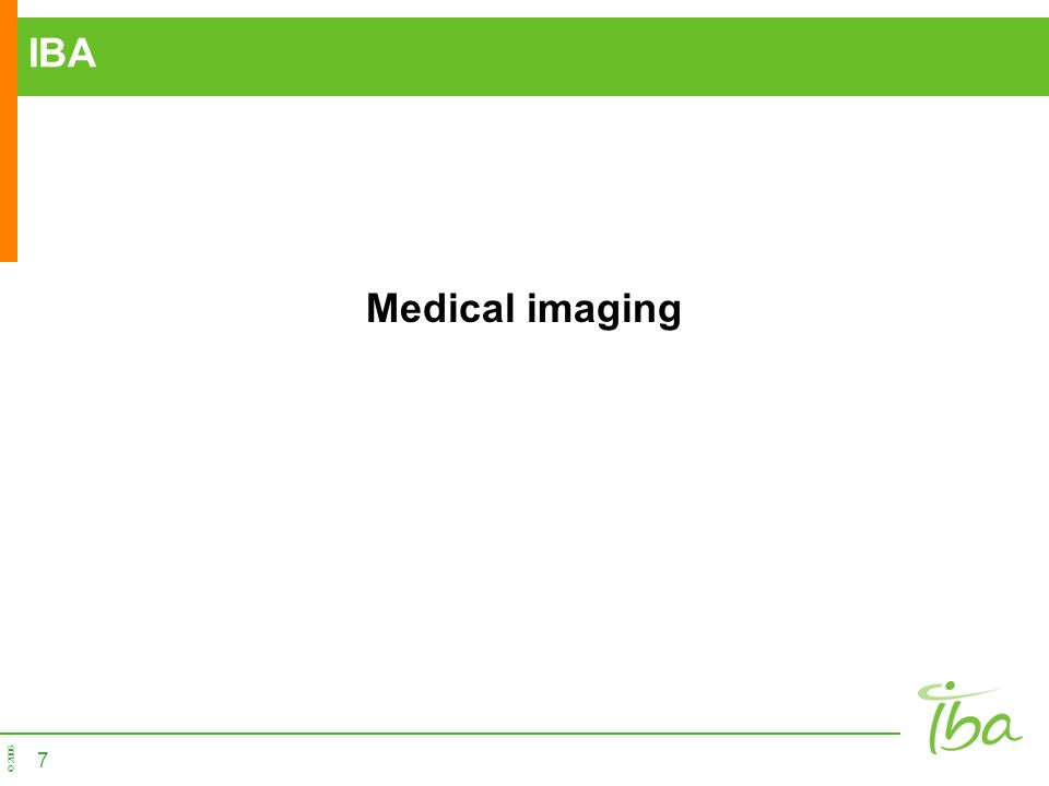 IBA Medical imaging