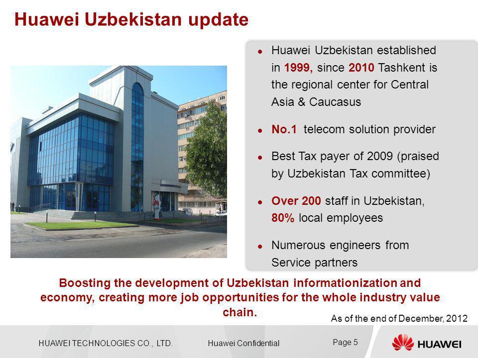 Huawei Uzbekistan update