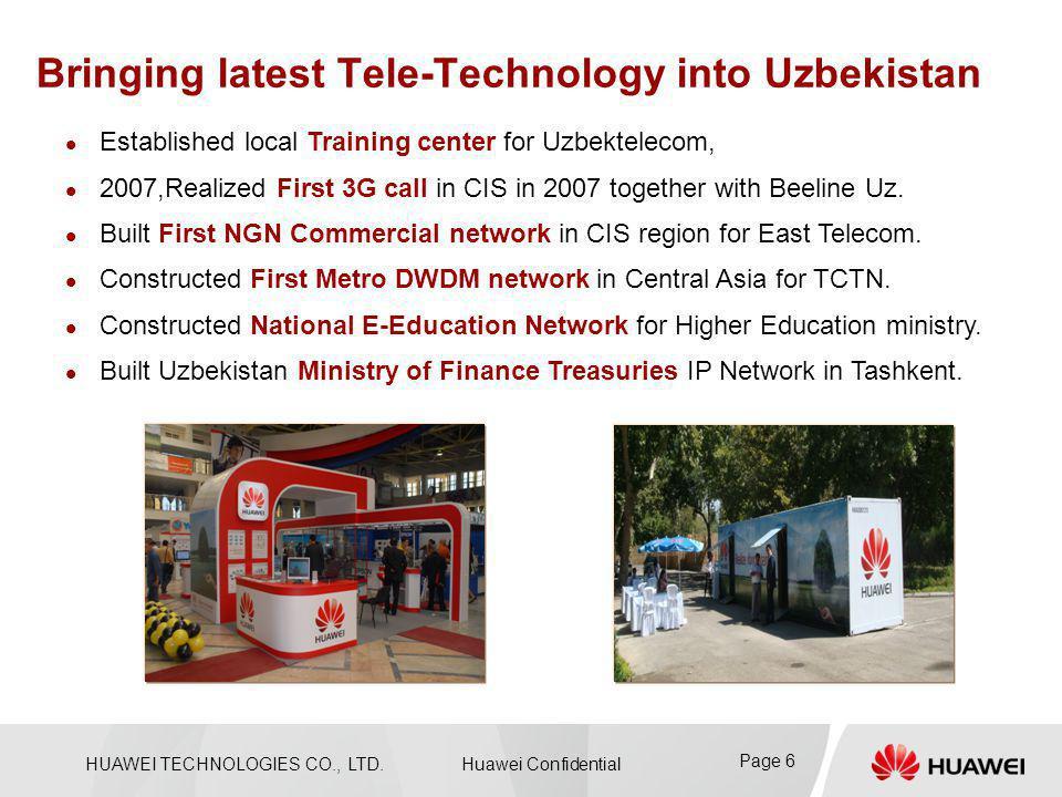 Bringing latest Tele-Technology into Uzbekistan