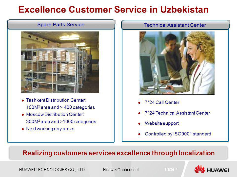 Realizing customers services excellence through localization