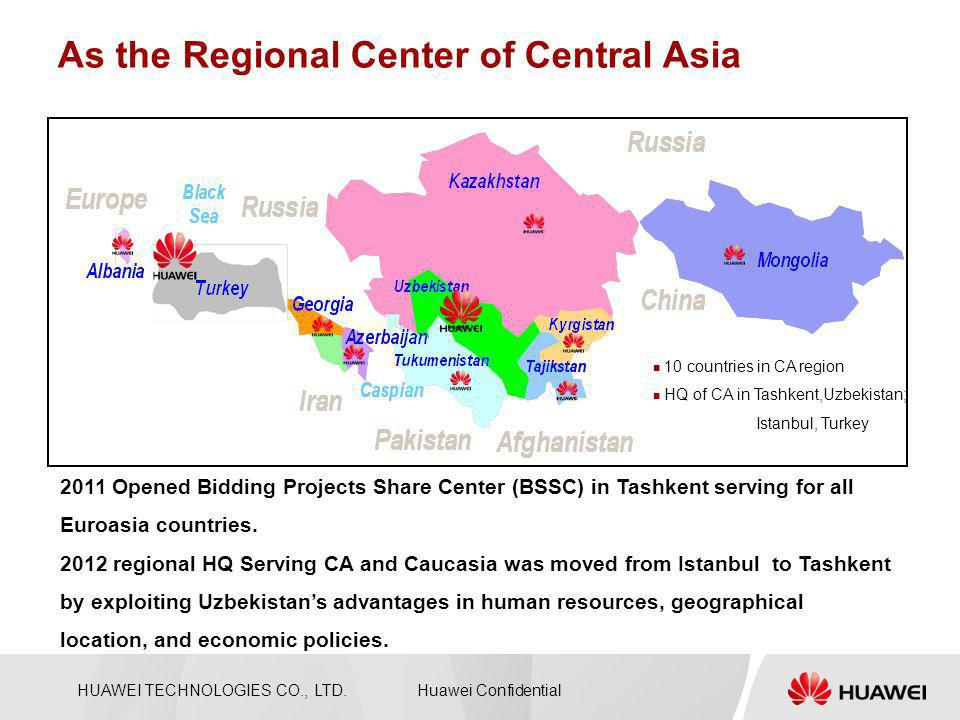 As the Regional Center of Central Asia