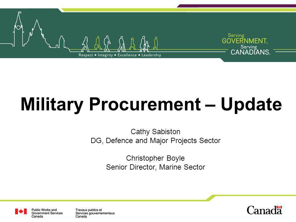 Military Procurement – Update