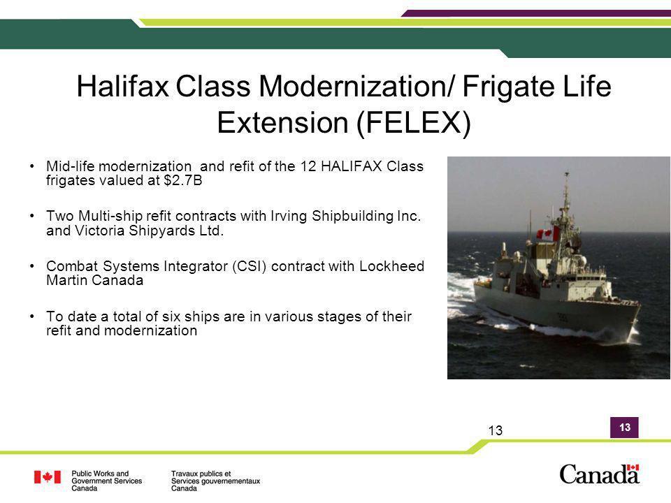 Halifax Class Modernization/ Frigate Life Extension (FELEX)
