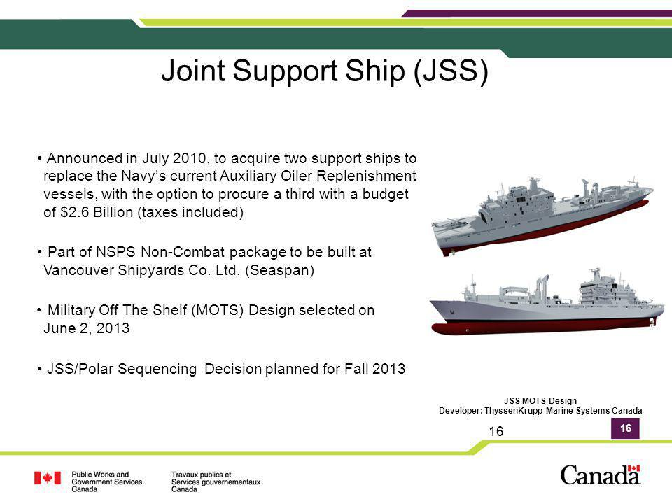 Joint Support Ship (JSS)