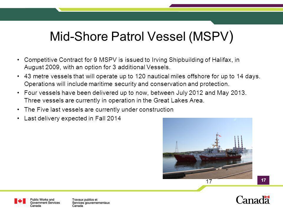Mid-Shore Patrol Vessel (MSPV)