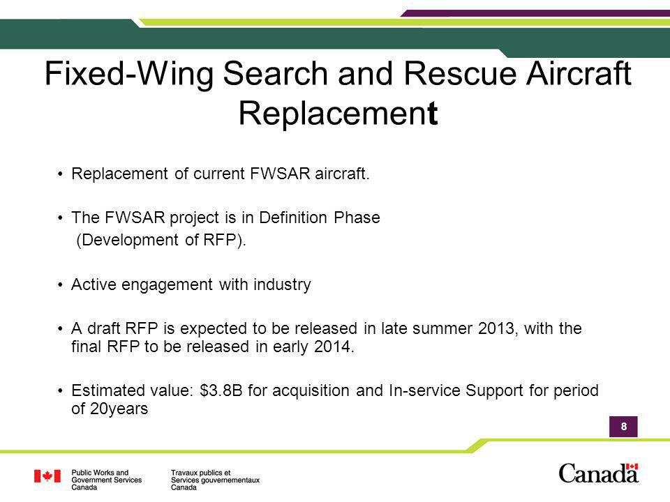 Fixed-Wing Search and Rescue Aircraft Replacement