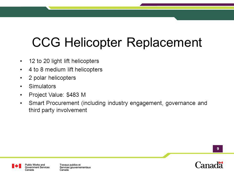 CCG Helicopter Replacement