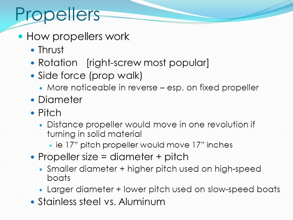 Propellers How propellers work Thrust