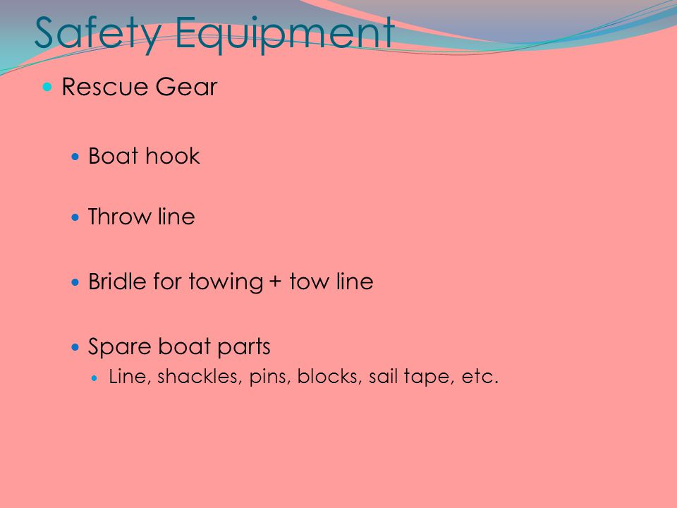 Safety Equipment Rescue Gear Boat hook Throw line