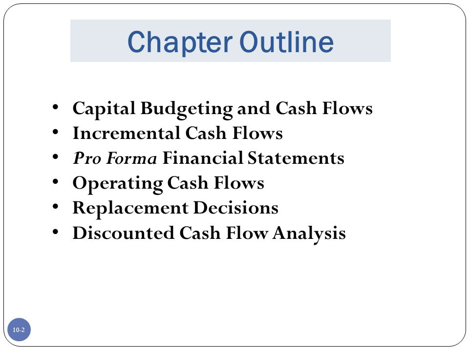 discounted cash flow statement