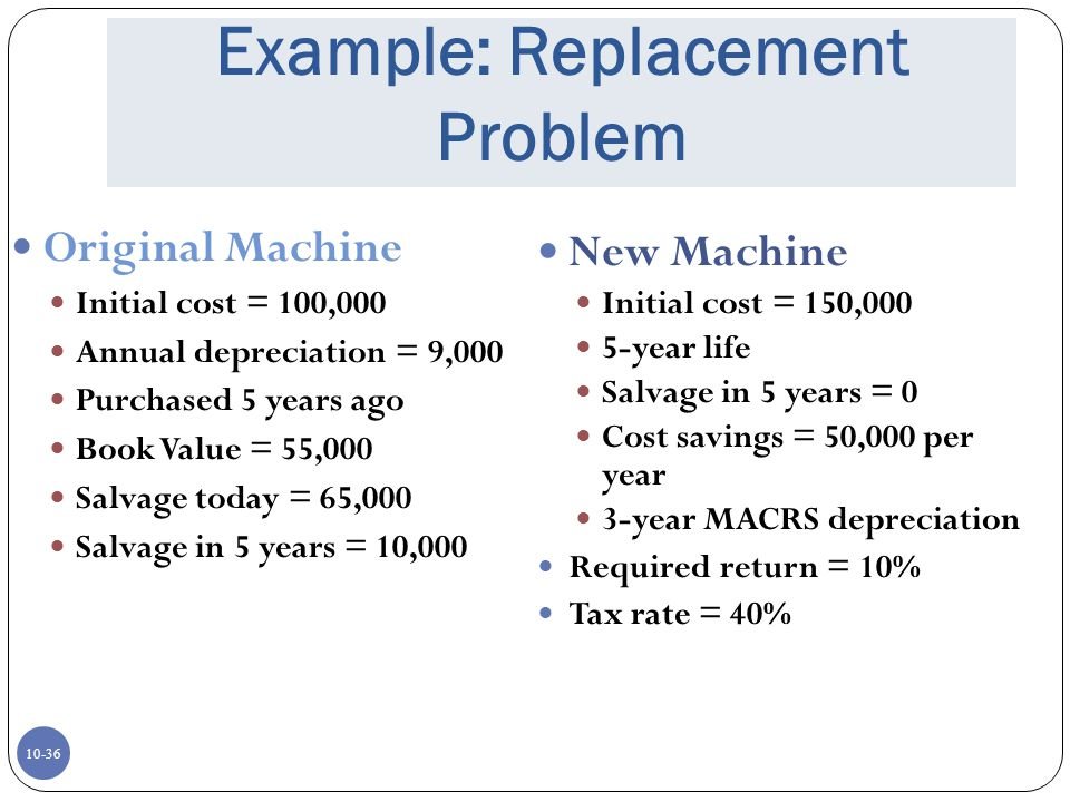 Example: Replacement Problem