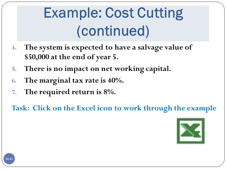 Example: Cost Cutting (continued)