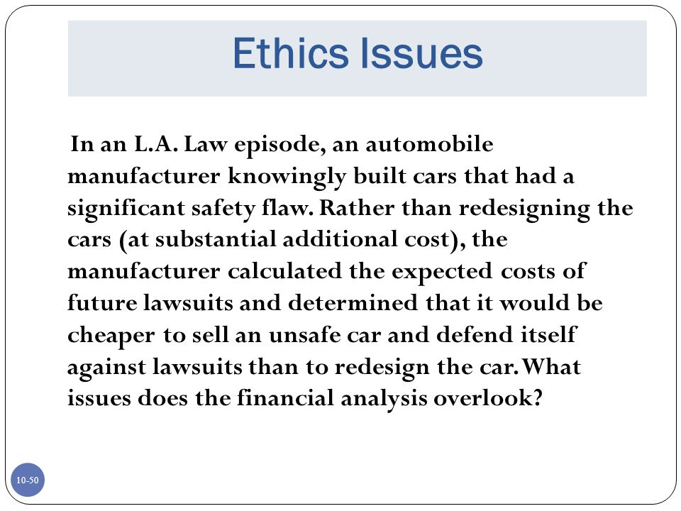 Ethics Issues