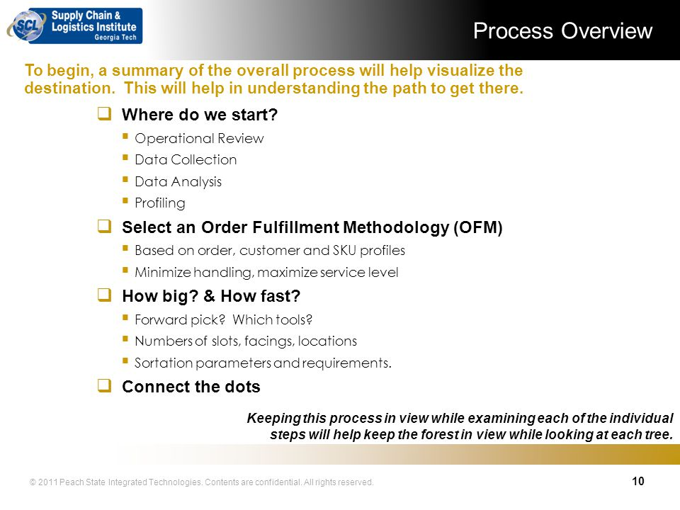 Process Overview Where do we start