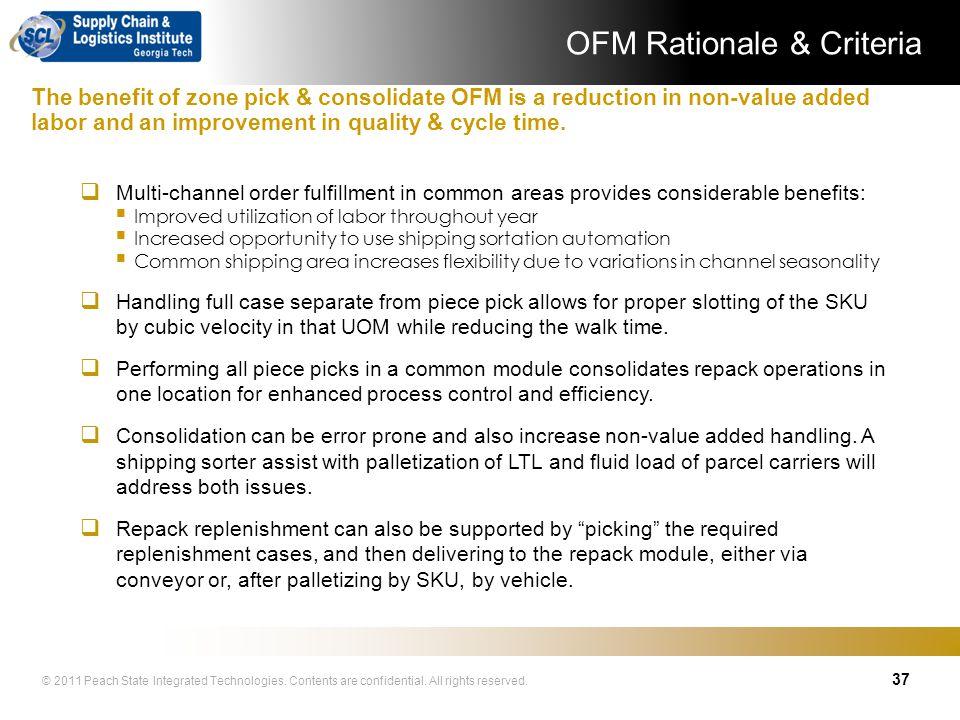 OFM Rationale & Criteria