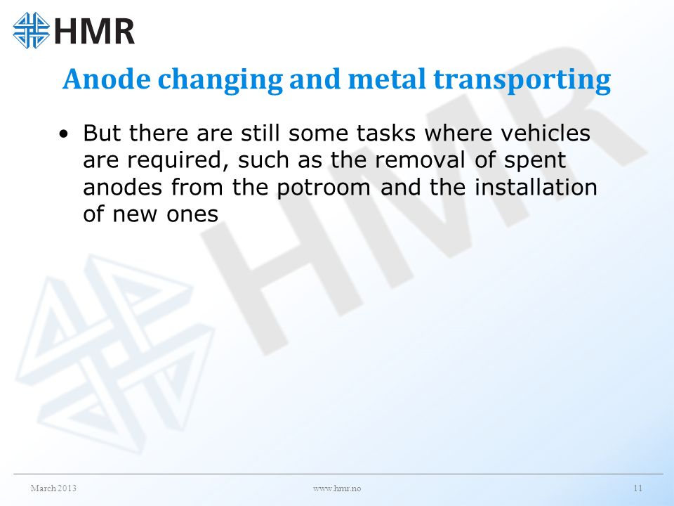 Anode changing and metal transporting