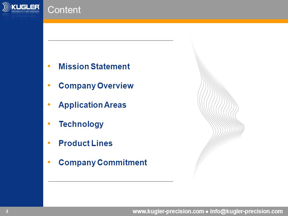 Content Mission Statement Company Overview Application Areas