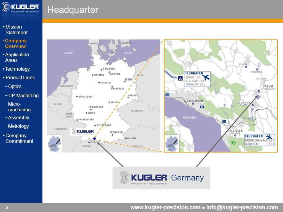 Headquarter Germany Mission Statement Company Overview