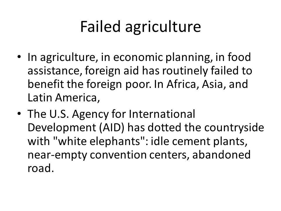 Failed agriculture