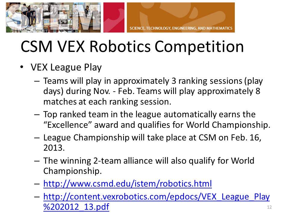 CSM VEX Robotics Competition