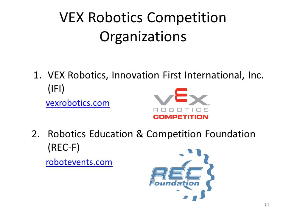 VEX Robotics Competition Organizations
