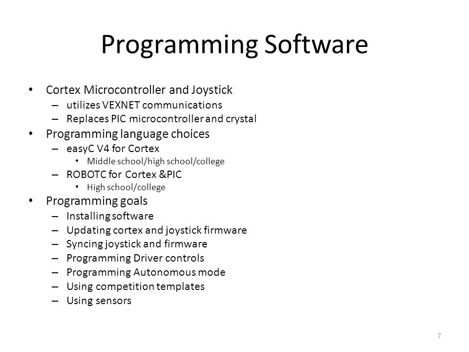 Programming Software Cortex Microcontroller and Joystick