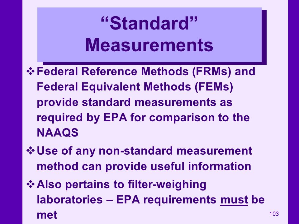 Standard Measurements