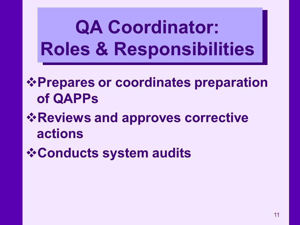 QA Coordinator: Roles & Responsibilities