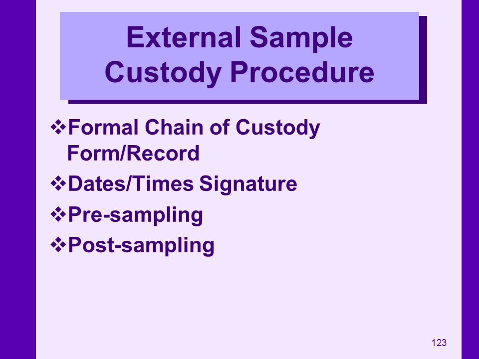 External Sample Custody Procedure