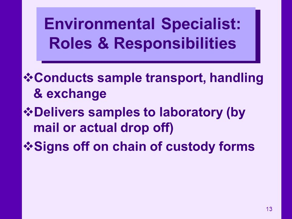 Environmental Specialist: Roles & Responsibilities