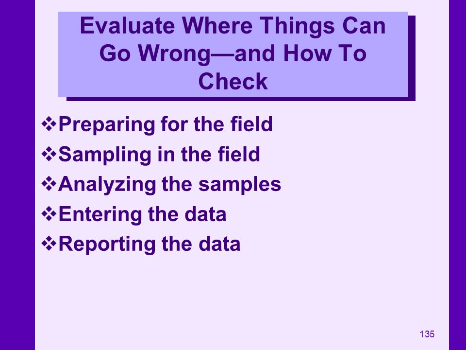Evaluate Where Things Can Go Wrong—and How To Check