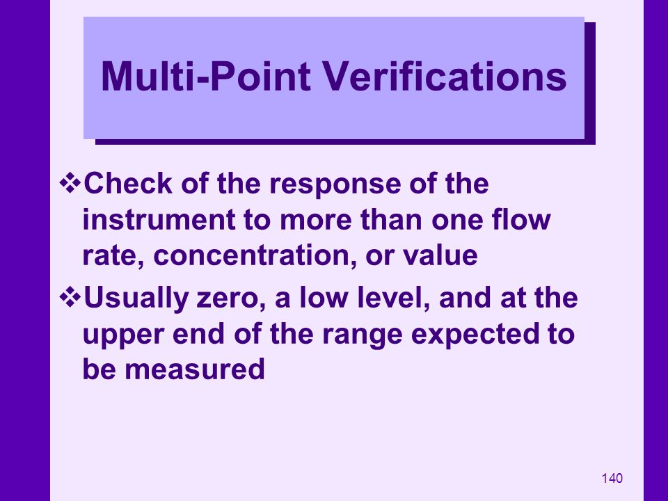 Multi-Point Verifications