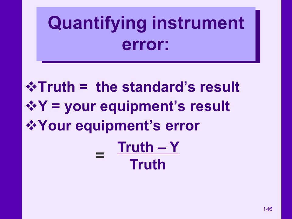 Quantifying instrument error: