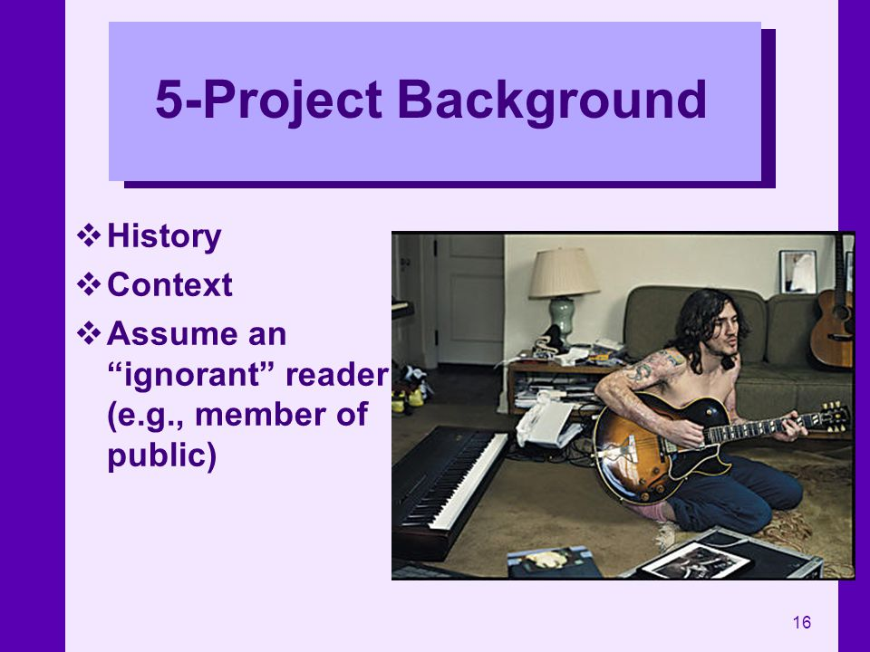 5-Project Background History Context