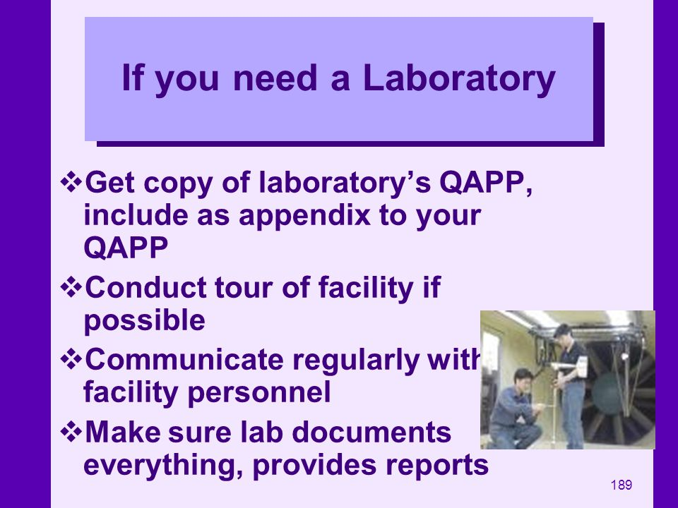 If you need a Laboratory